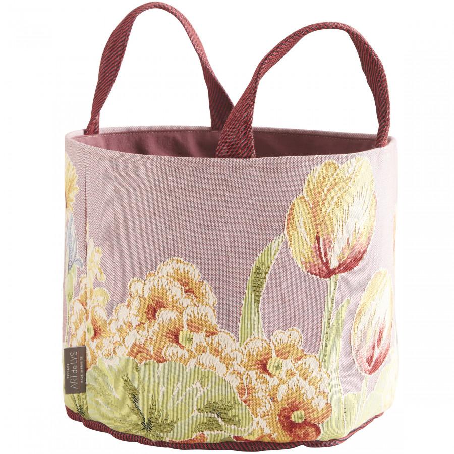 Panier tapisserie Parterre de fleurs