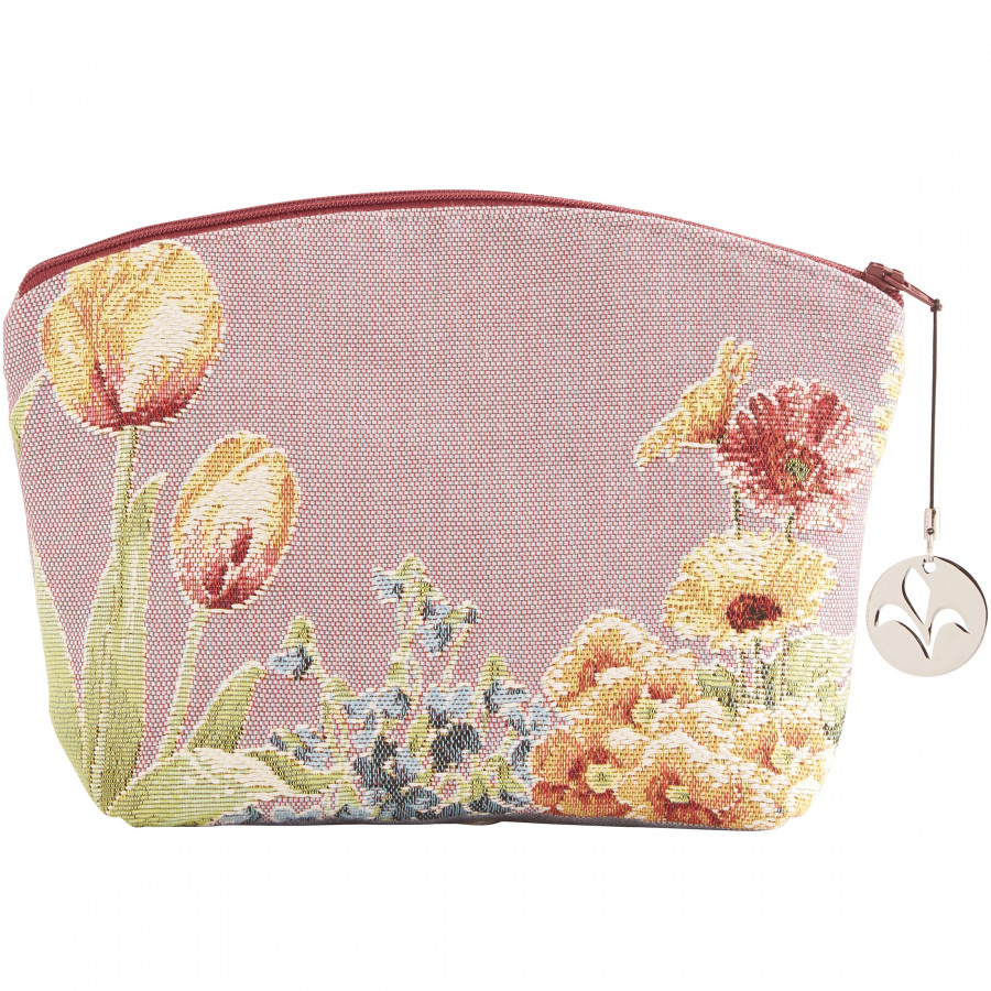 Tapestry cosmetic bag Flowerbed