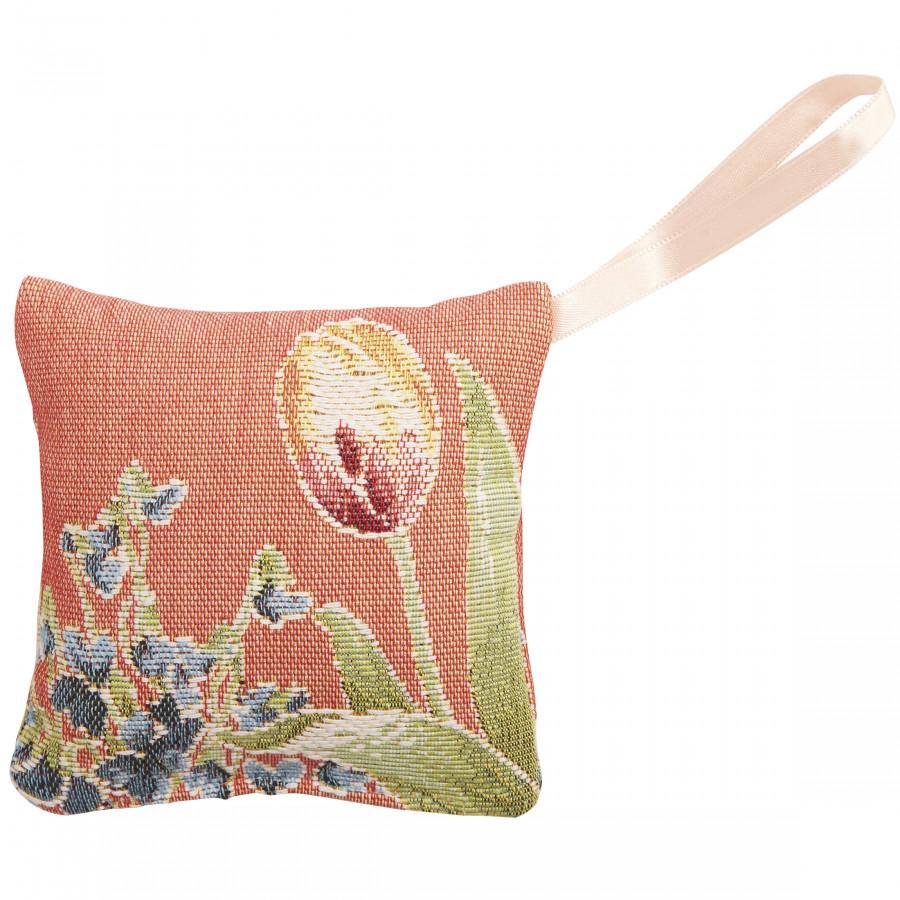 Mini coussin senteur en tapisserie Parterre de fleurs