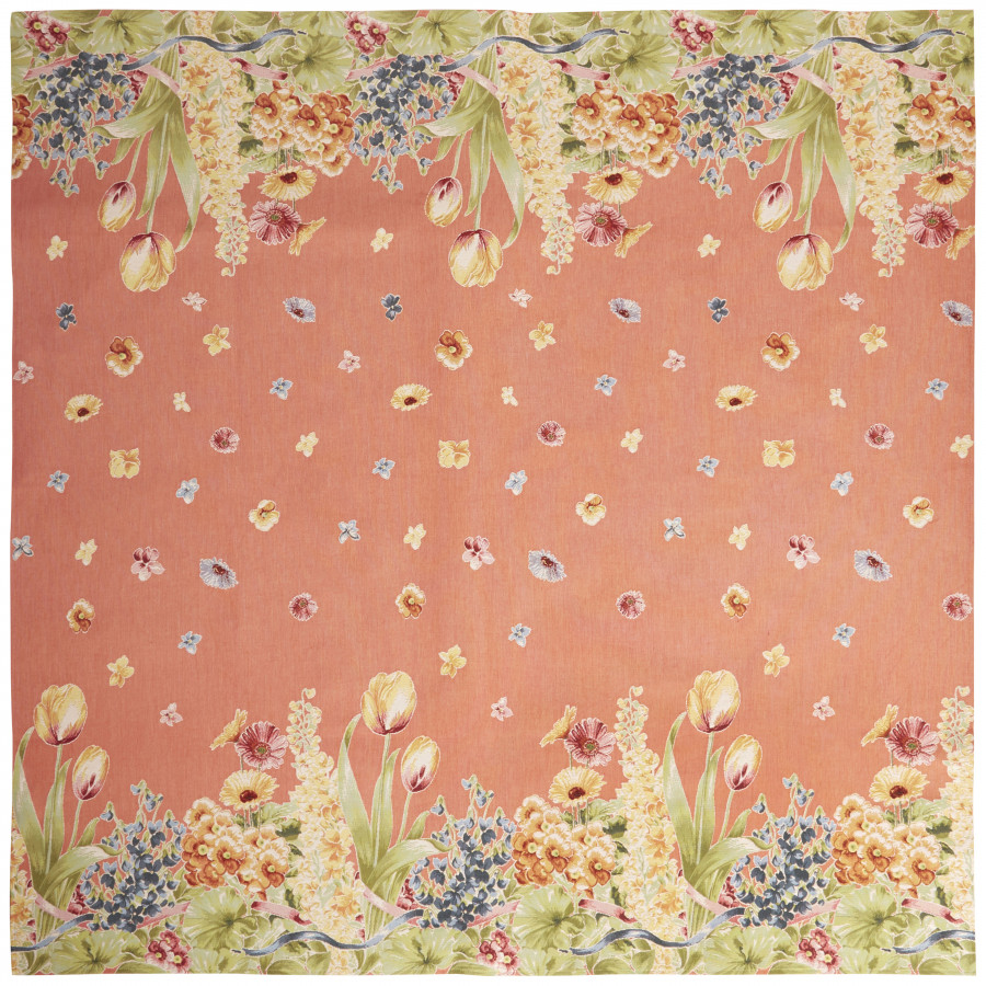 Plaid tapestry Flowerbed