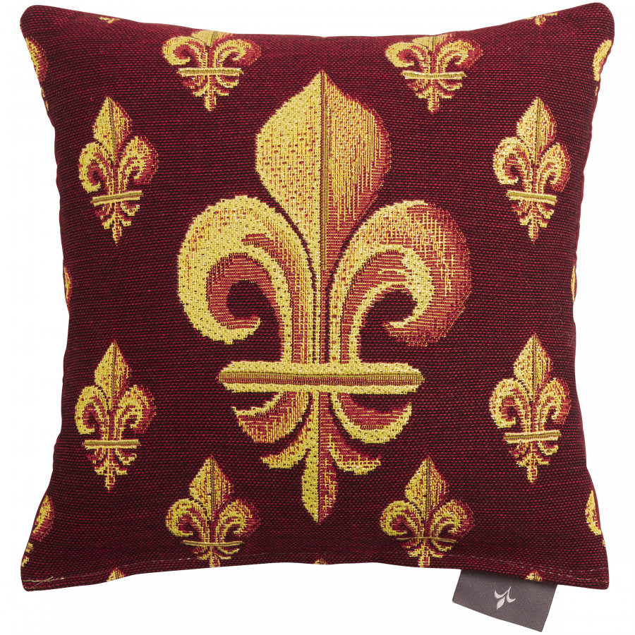 Small tapestry cushion Fleurs de Lys