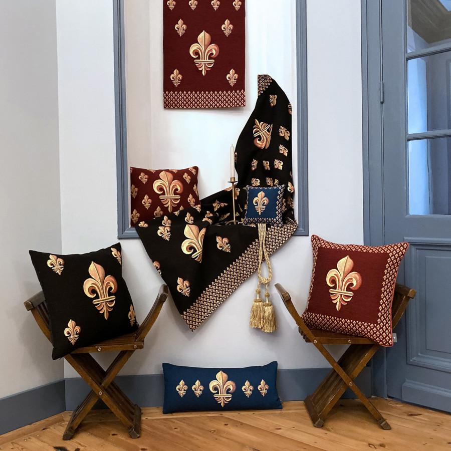Tapestry cosmetic bag Fleurs de Lys