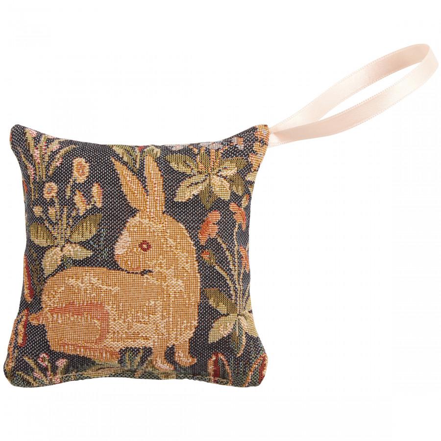 Mini coussin senteur en tapisserie Lapin