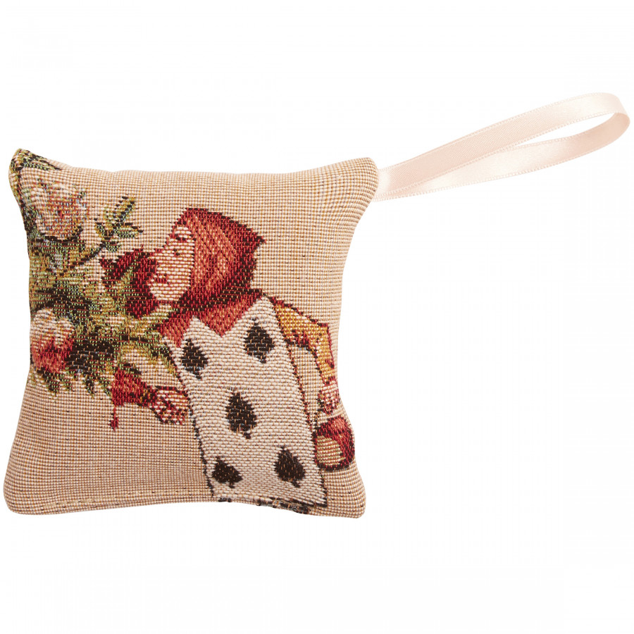Scented  tapestry mini cushion The Gardeners, Alice in Wonderland