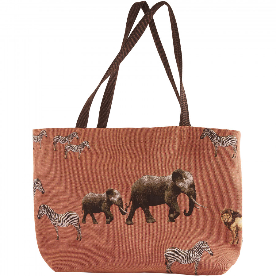 Tapestry big bag Savannah Animals