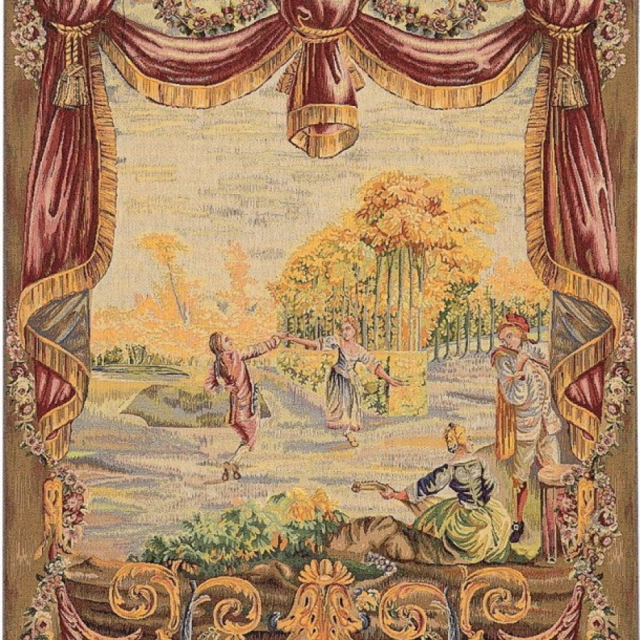 Tapisserie Danse au jardin, Jean-Baptiste Huet