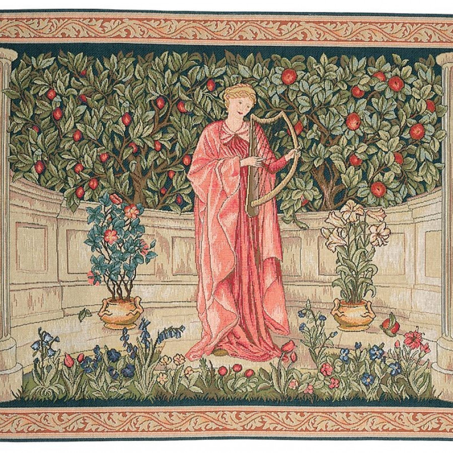 Tapestry The Minstrel, William Morris
