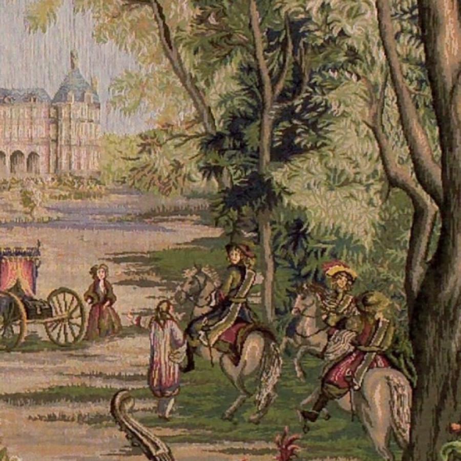 Tapestry  Verdure au chateau (square)