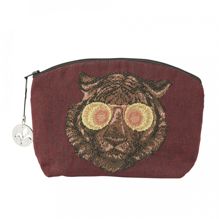 Tapestry purse Tiger with glasses