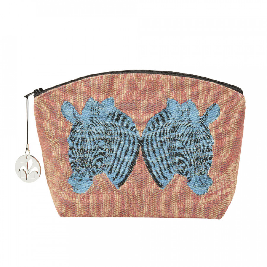 Tapestry purse Colourful zebras