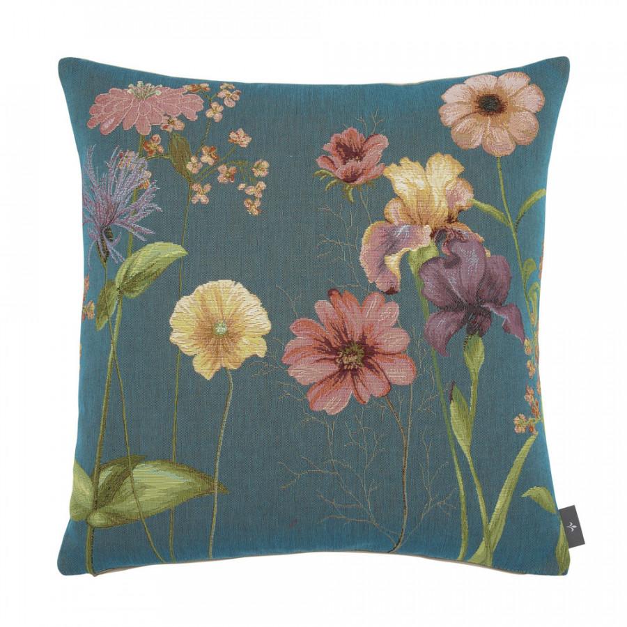 Housse de coussin tapisserie Giverny multi fleurs