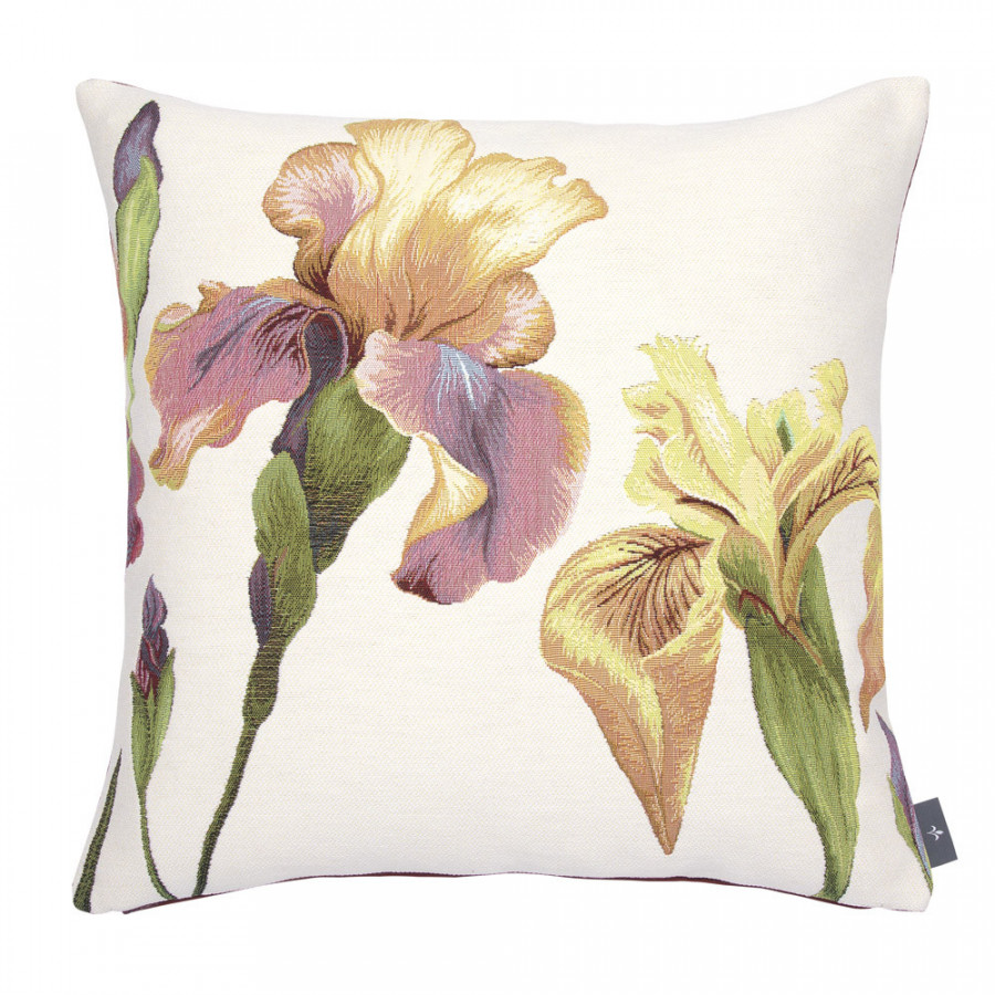 Housse de coussin tapisserie Giverny Iris
