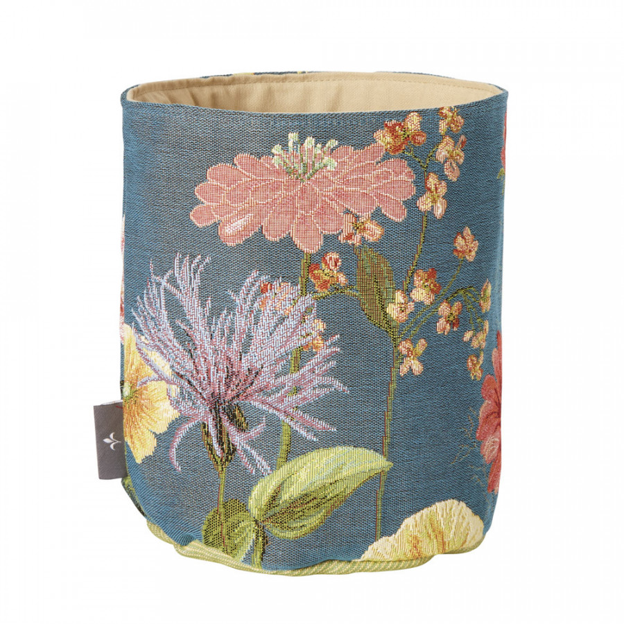 Small tapestry basket Giverny multi flowers