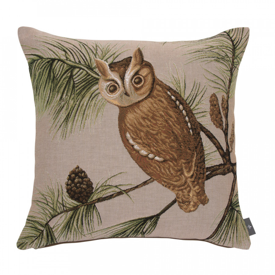 Tapestry cushion cover Red owl
