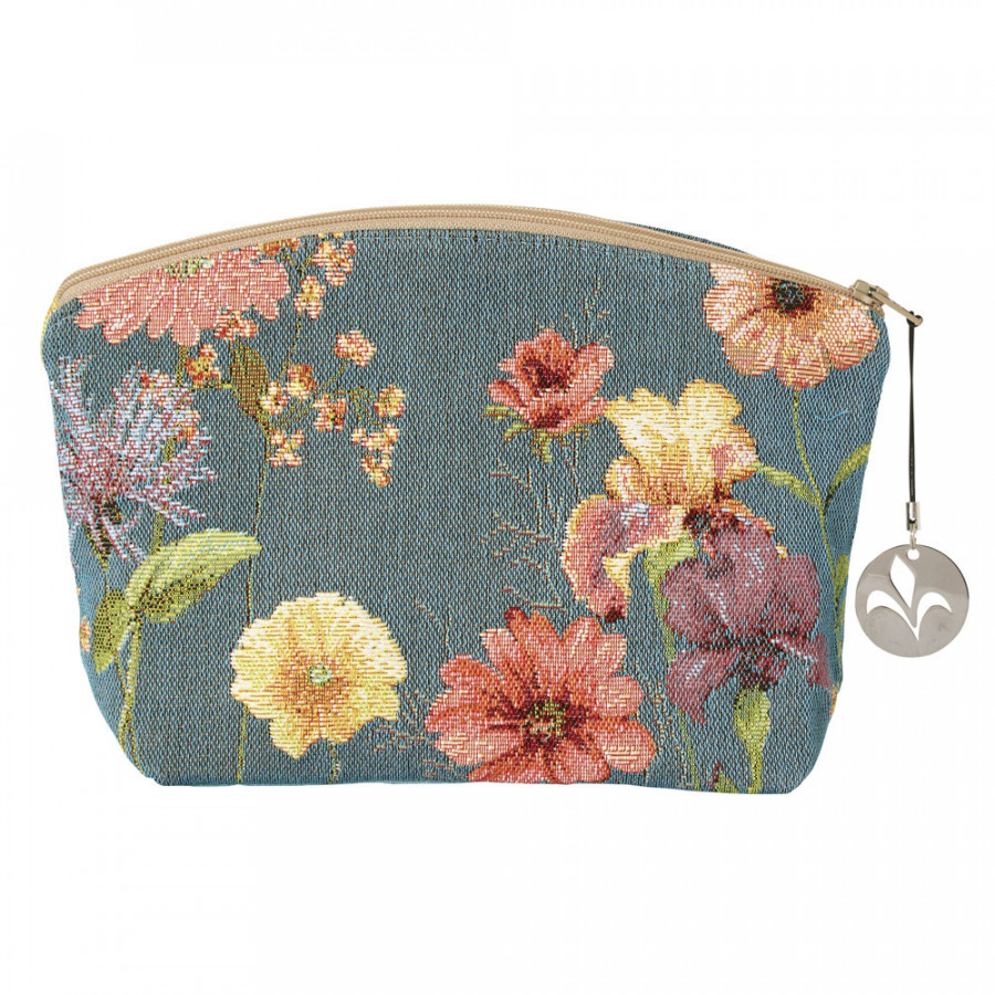 Tapestry cosmetic bag Giverny multi flowers