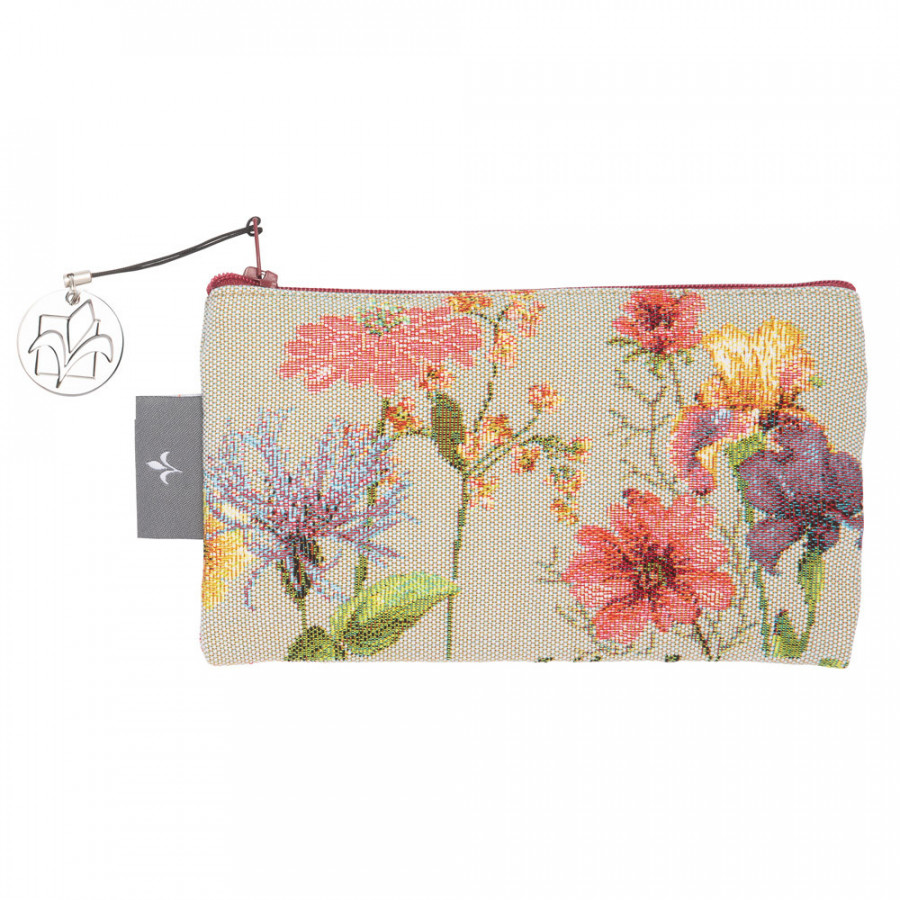 Tapestry purse Giverny multi flowers