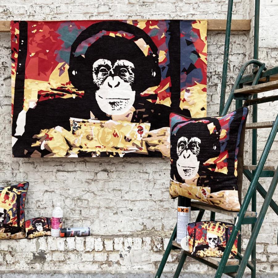 Tapisserie NY Street Art singe