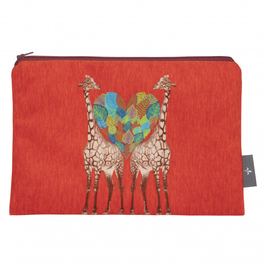 Cosmetic bag Printed purse Giraffe