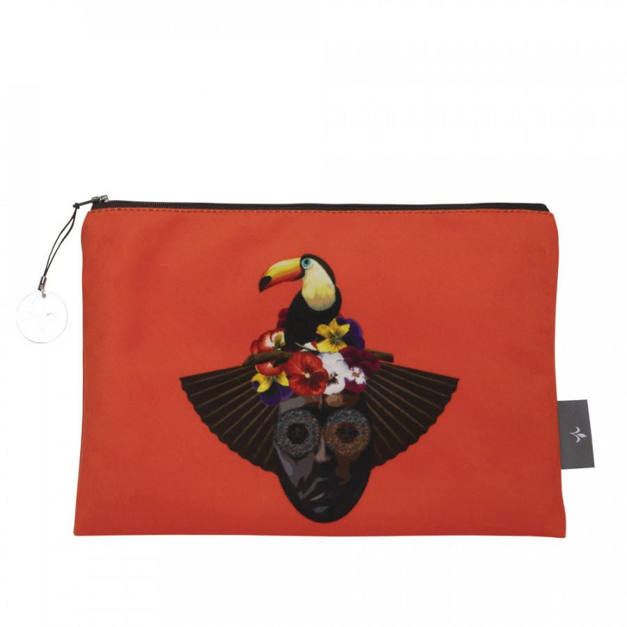 Cosmetic bag Printed purse Toucan
