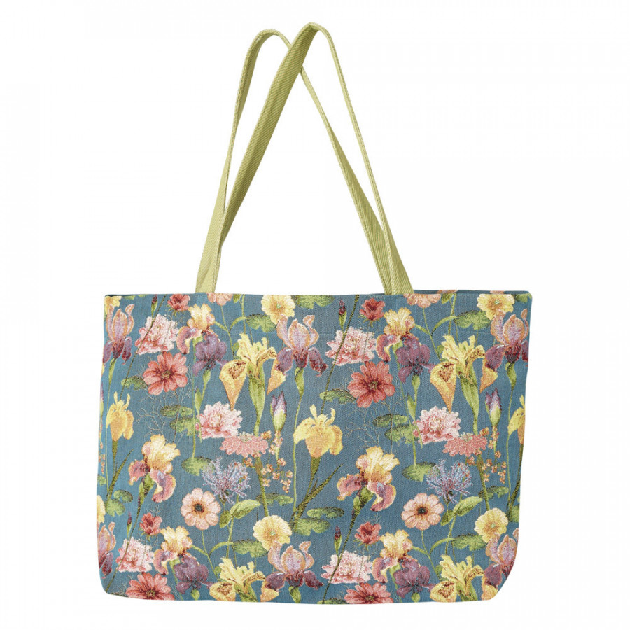 Large tapestry bag Giverny