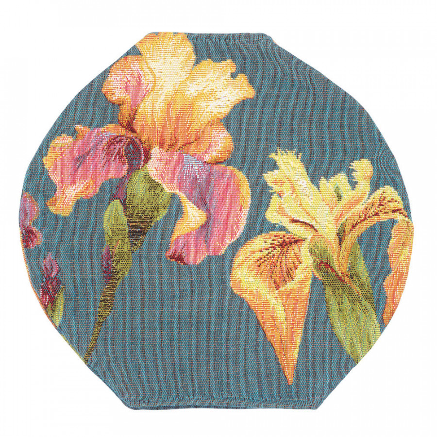 Round tapestry vase cover Giverny