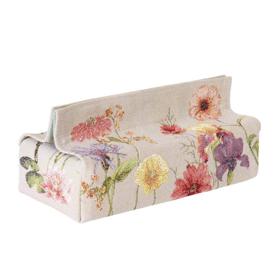 Tapestry tissue box case Giverny