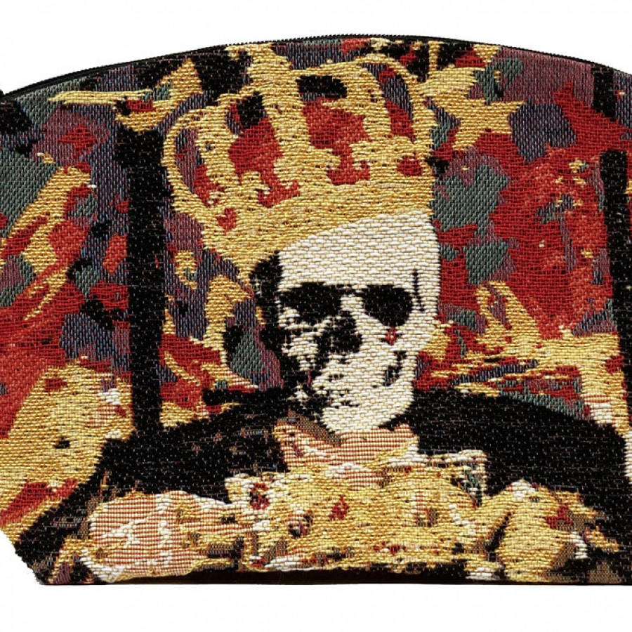 Tapestry purse Street Art Skull