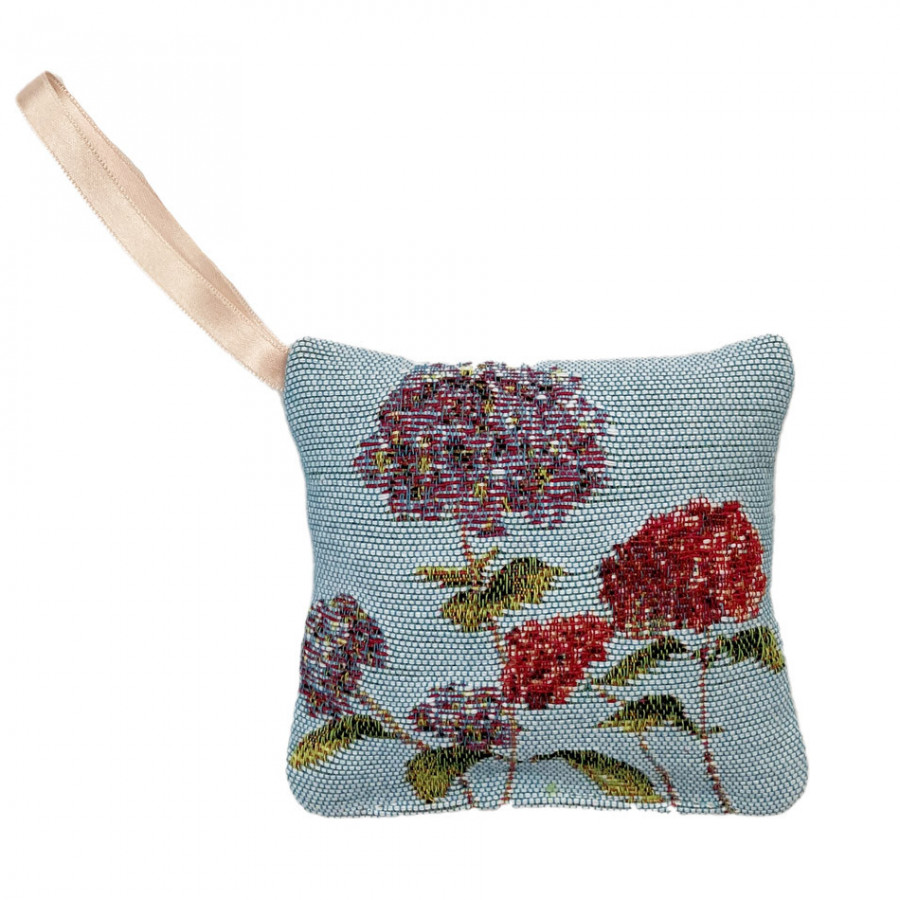 Scented tapestry mini cushion Hydrangea