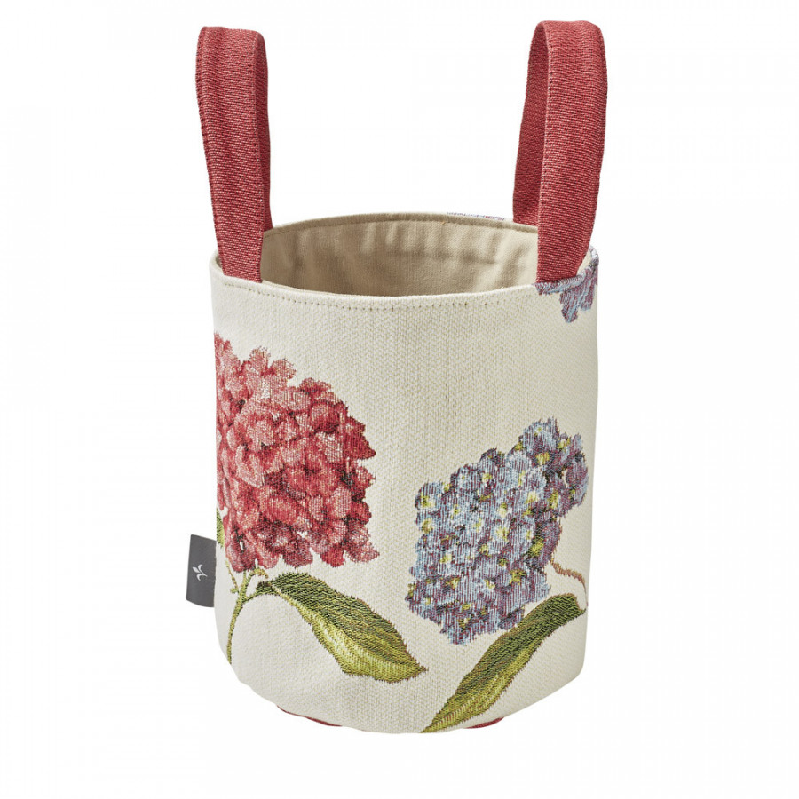 Small tapestry basket Hydrangea