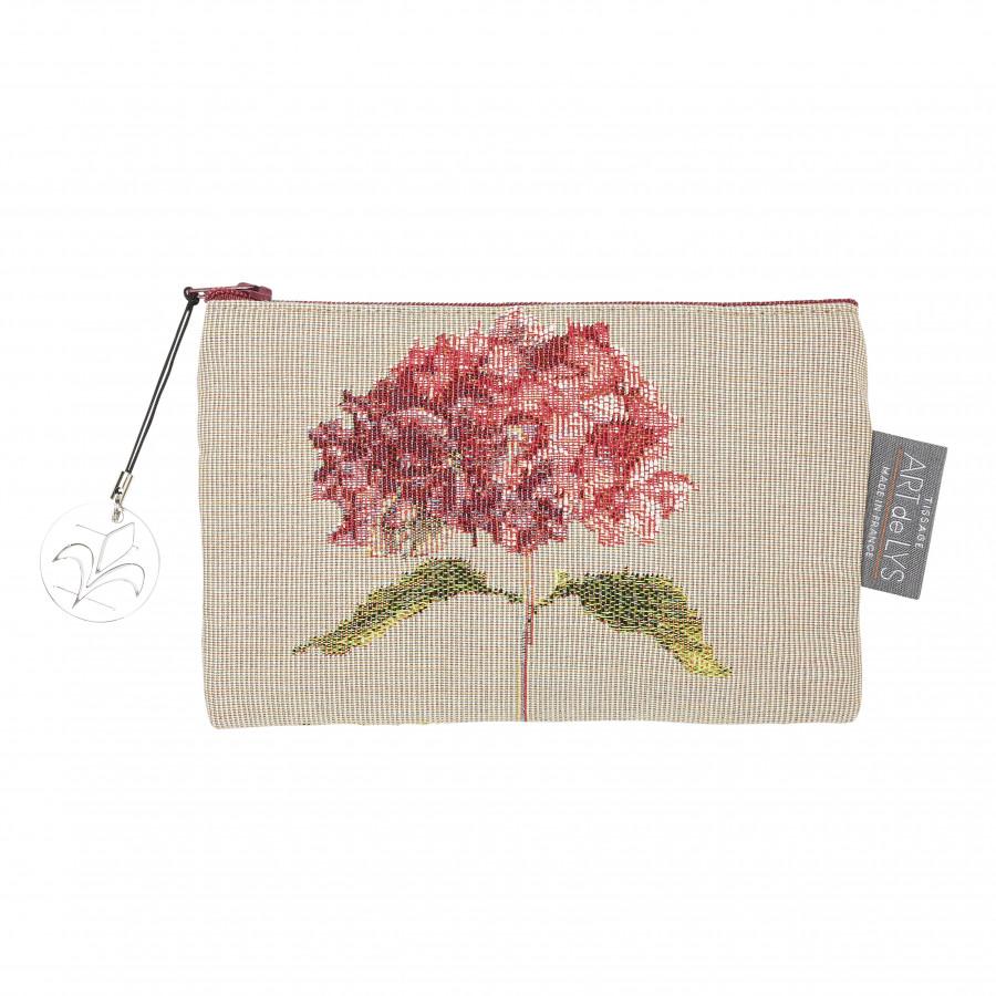 Pochette tapisserie Hortensias