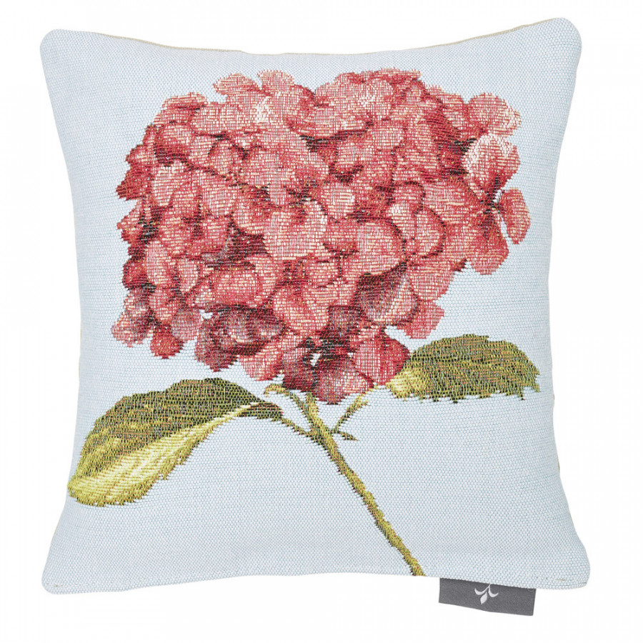Small filled tapestry cushion Hydrangea