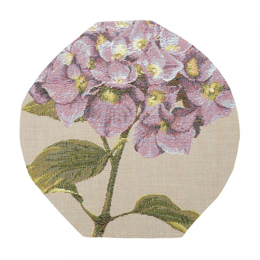 Round tapestry vase cover Hydrangea