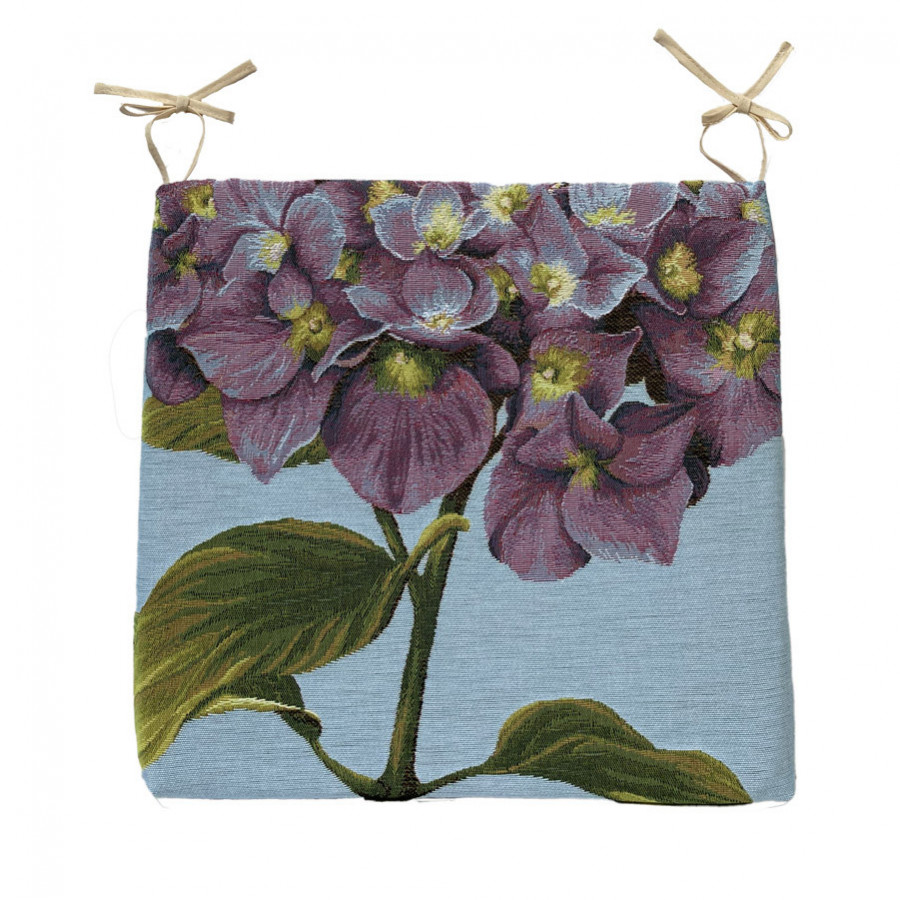 Tapestry chair pad Hydrangea