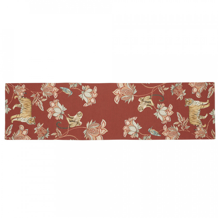 Tapestry runner  Floral Indian