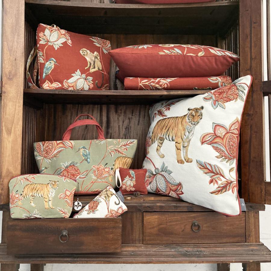 Tapestry basket Floral Indian