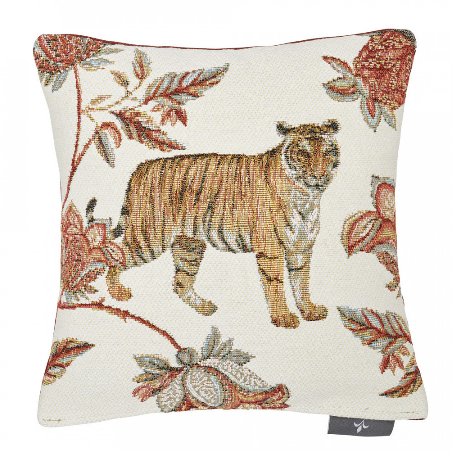 Small filled tapestry cushion Floral Indian