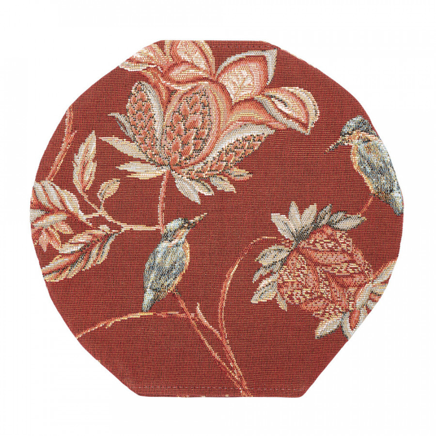 Round tapestry vase cover Floral Indian