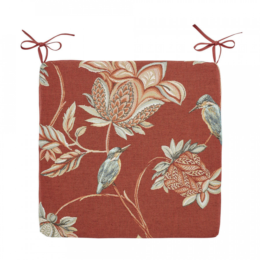 Tapestry chair pad Floral Indian