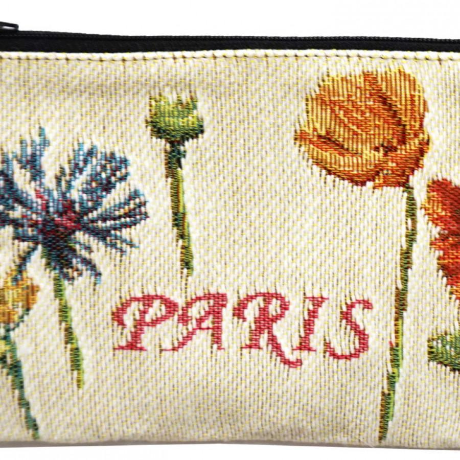 Pochette Tour Eiffel et fleurs vives
