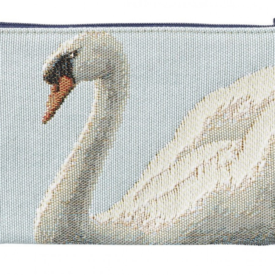 Tapestry purse Swan