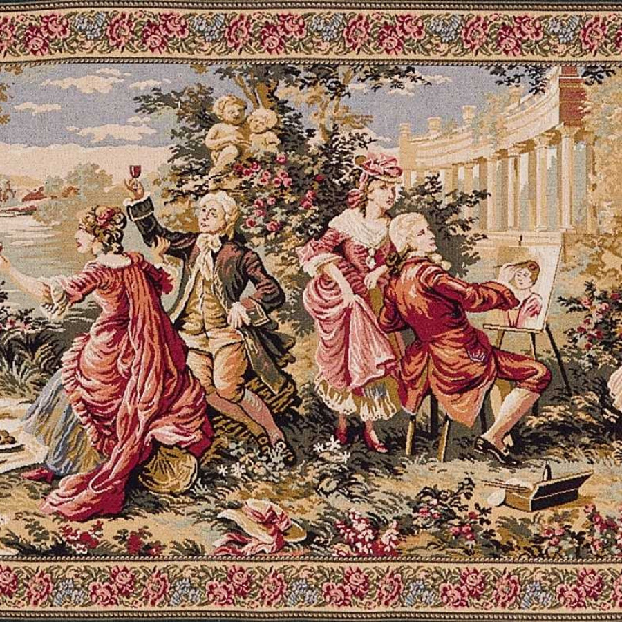 Tapestry  Garden Party in the countryside