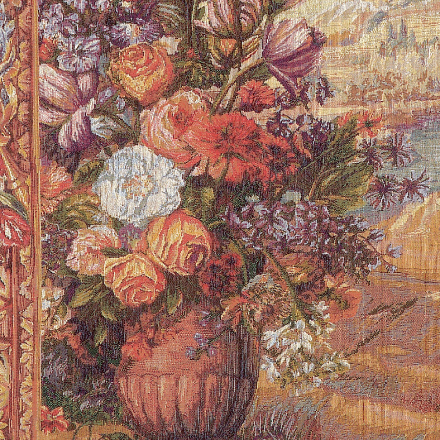 Tapestry Bouquet with drape - fountain