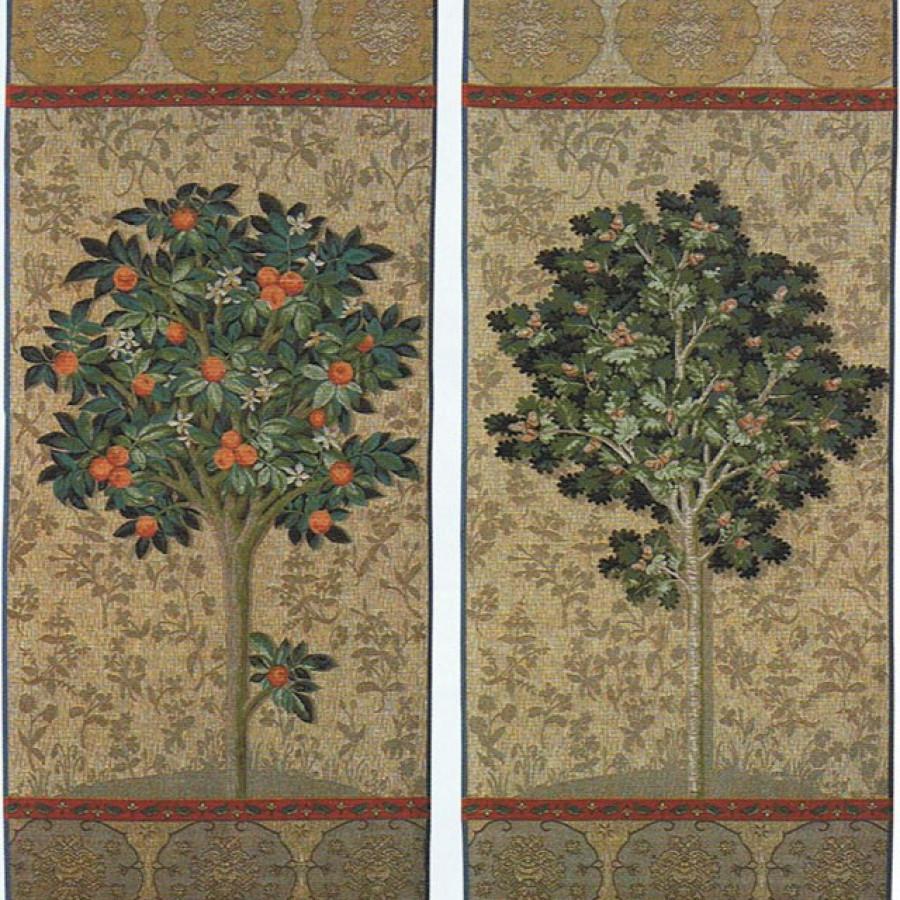 Lot de 2 tapisseries : l'oranger et l'arbre