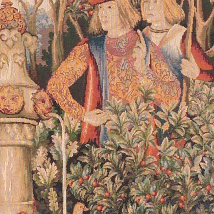 Tapestry Licorne à la fontaine