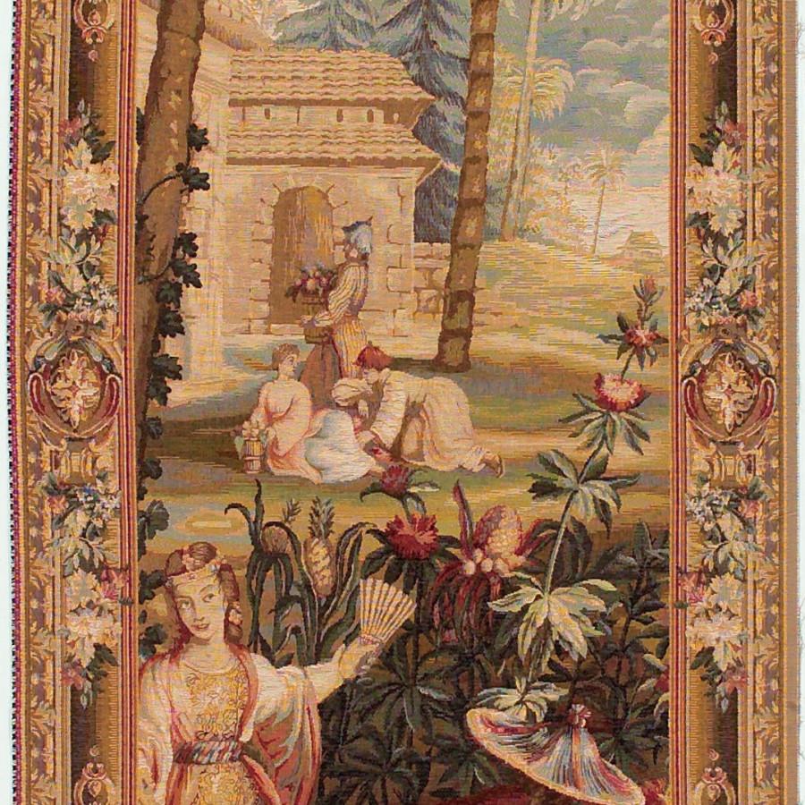 Tapestry La récote des ananas - left door