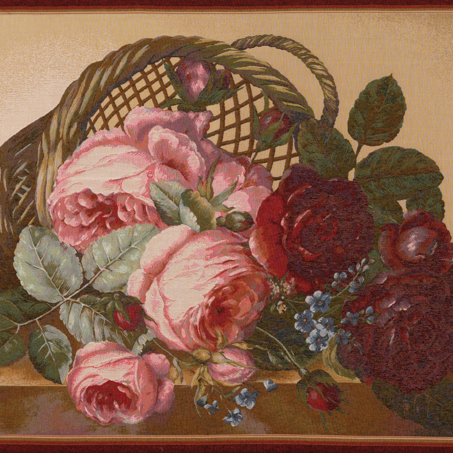 Tapestry Bunch of flowers silk