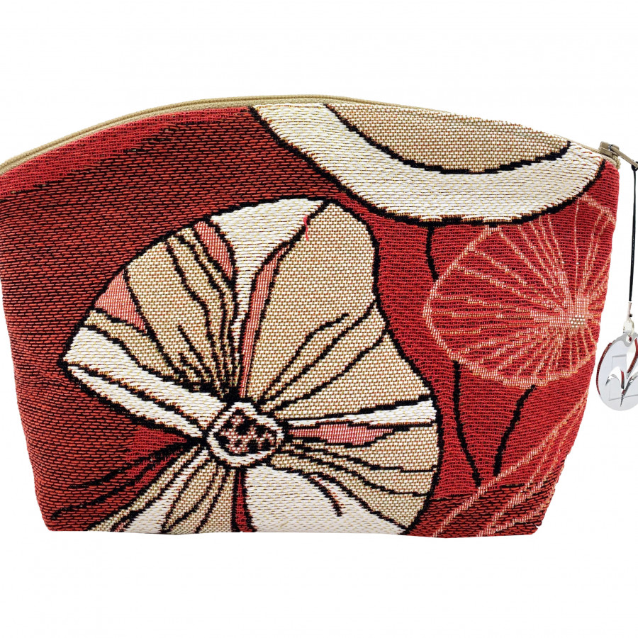 Cosmetic bag abstract flowers