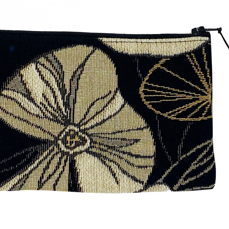 Purse abstract flowers