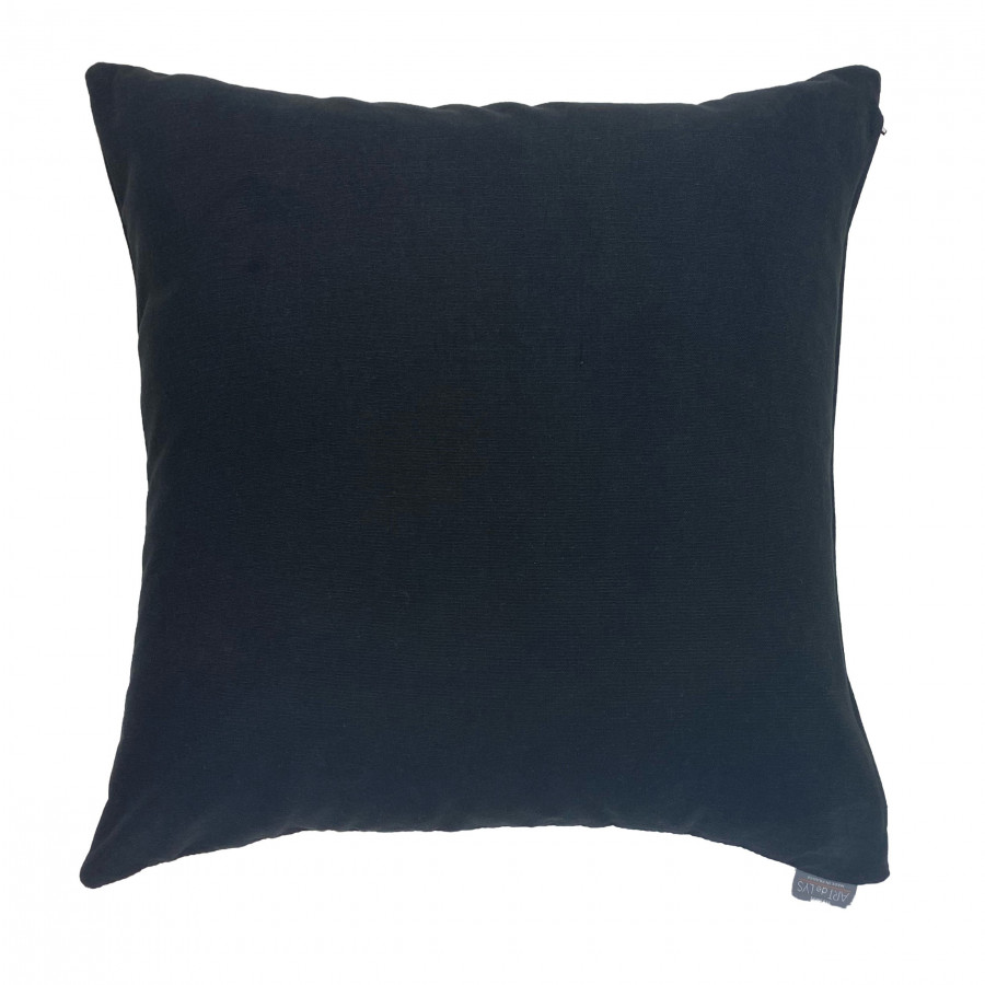 Cushion cover abstract face