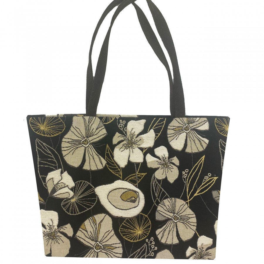 Tapestry big bag abstract flowers